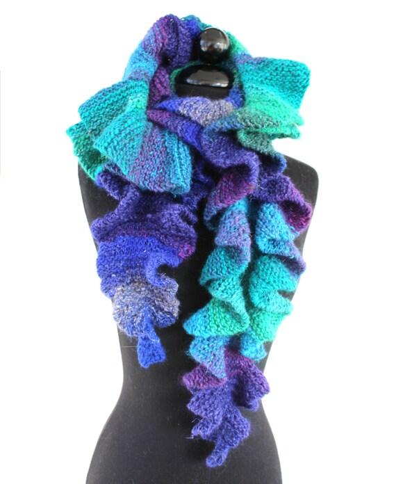 Knitting A Scarf Garter Stitch : KNITTING PATTERN Increasing Waves Garter Stitch Scarf With