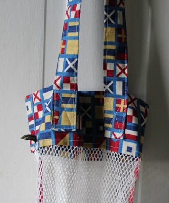 Mesh seashell bag seashell collecting nautical bag kids for Bag of seashells for crafts