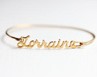 Name Bracelet - Lorraine
