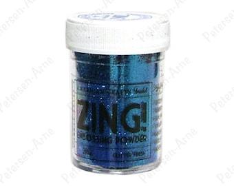 Blue Glitter finish Embossing Powder, Zing Embossing Powder, 1 oz Jar, Blue Embossing Powder