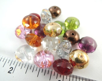 18 colorful glass Rondelle 9x5mm