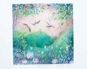 Special edition art print with gold leaf.  First Light . By Amanda Clark.