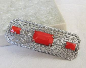 Vintage Edwardian Filigree Pin