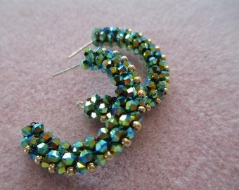 Lovely Laurie Hoop Earrings PDF Bead Weaving Pattern Tutorial (INSTANT DOWNLOAD)