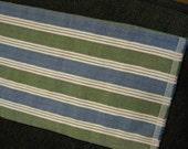 Renaissance Pirate Sash Belt Scarf Costume Striped Linen Look Wrap 108 Inches