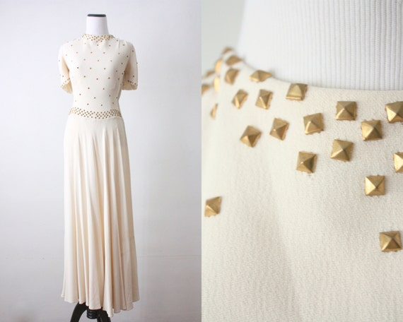 vintage ivory evening dress from 1919 Vintage