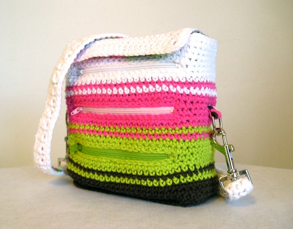 CLEARANCE 50% off, Travelers pack in brights, color block, white pink green brown