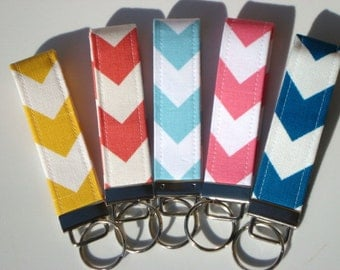 Wristlet Key Fob / Key Chain - Pick Your Fabric Design - Match coupon organizer