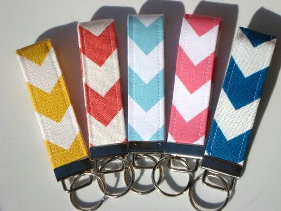 Wristlet Key Fob / Key Chain - Pick Your Fabric Design - Match coupon organizer