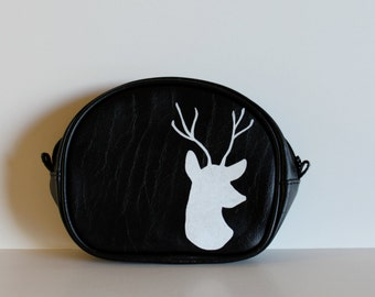 Toiletry Travel Bag / Vintage Travel Bag / Fathers Day Gift / Elk / Deer / Vintage Deer / Painted Deer / Grooms Gift / Groomsmen Gift