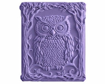 Owl Soaps -  Organic  Soaps - Glycerin Soaps  -  Purple Soaps -  Decorative Soaps  - Natural Soap - Moisturizing  - Fragrance Oil Plumeria