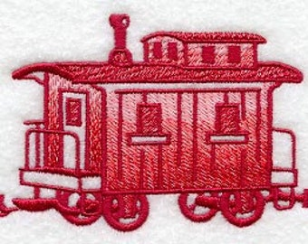 Caboose Embroidered Terry Kitchen Towel Bathroom Hand Towel