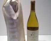 wine gift bag white