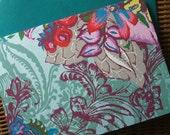 4 Bar Note Cards- Floral Teal - (Set of 10)