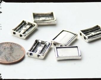 SALE! Slider Bracelet Blank Bezel Settings for resin  - DIY Photo jewelry kit - set of 14 - rectangles- makes one bracelet