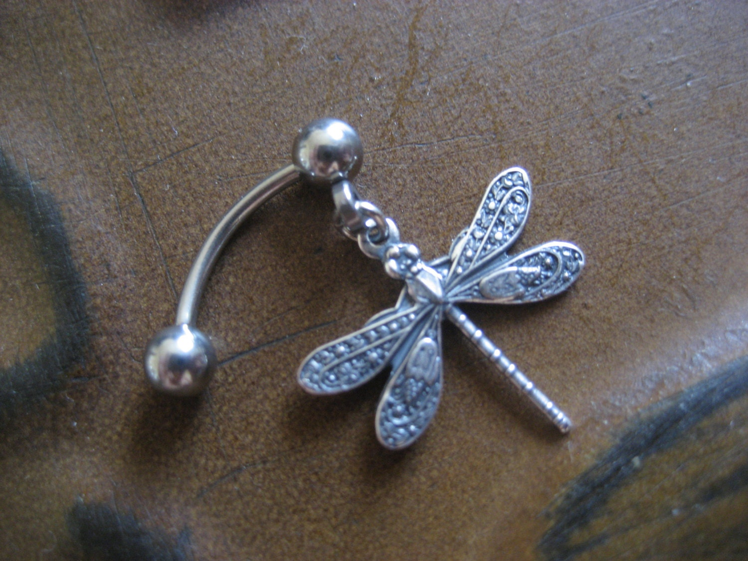 Tiny Dragonfly Rook Eyebrow Ring Piercing Jewelry Earring