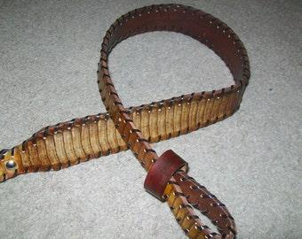 King Cobra Belly Snake Skin Rifle Sling