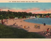 Vintage Cape Cod Postcard - Onset Beach (Unused)