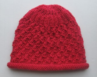 Knitting Pattern #109 for Hat in Candle Flame Stitch in size Child/Adult