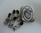 DARK AS NIGHT Artisan Perfume oils sampler, 4 ampules - my Gothic Collection - Vegan
