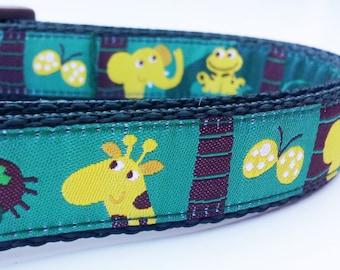Wild Puppy - Dog Collar / Pet Accessories / Handmade / Adjustable / Monkeys / Pet Lover