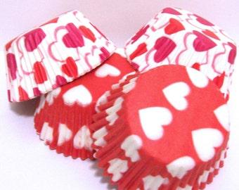 60 Heart Cupcake Liner Assortment