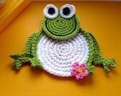 Crochet Frog Coasters set of 2