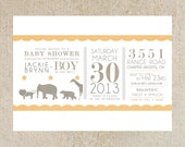 Vintage Circus Baby Shower Template