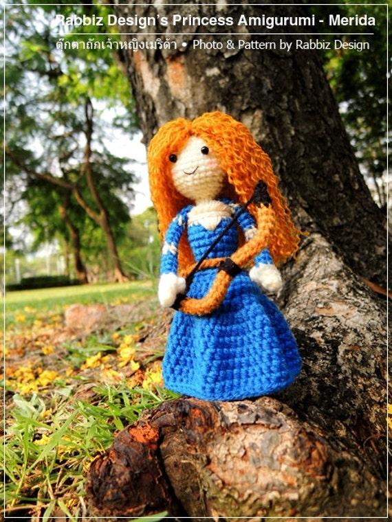 Designer Crochet Amigurumi Patterns Merida Warrior Princess : PDF Pattern - Amigurumi Princess Merida Pattern from ...
