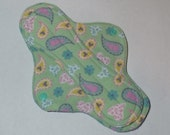Menstrual Pad Mama Pad Mama Cloth Reusable Sanitary Pad mint green with pastel paisley print - size S/M