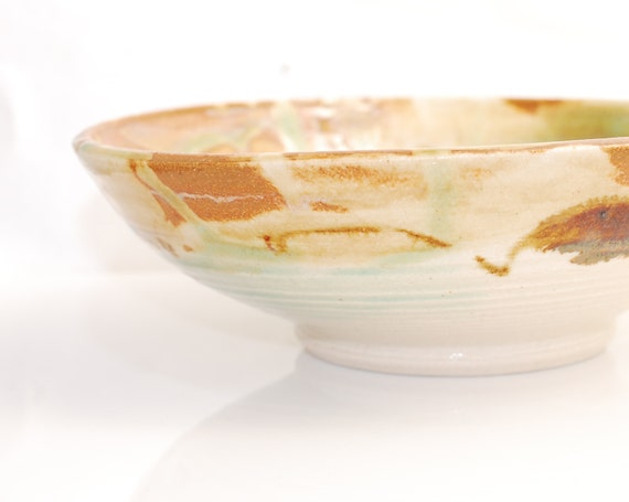 Bowl Ceramic Bowl Turquoise and Sand