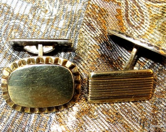 Vintage Norway Ottar Hval Gold over 830S Silver Cufflinks Cuff Links Scandinavian Pivot Link