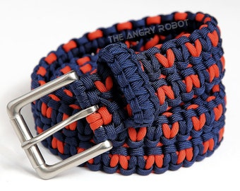 Paracord keychain lanyard with carabiner you choose the for How to make a belt out of paracord
