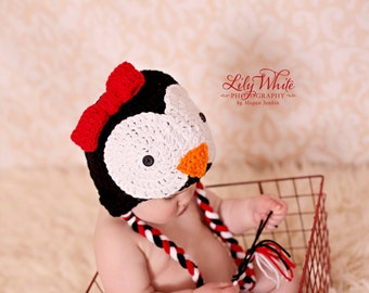 Penguin Ear Flap Hat