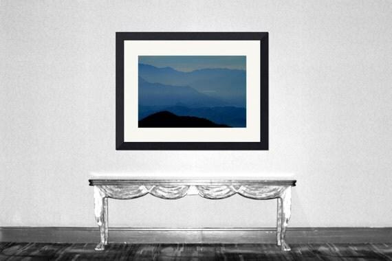 Blue Ridge Mountain sky - nursery cabin forest mountain climbing summer house wall decor Fine Art Print 20x30 Limited 1/50