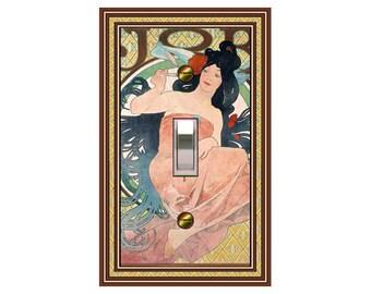 Art Nouveau Mucha  Job Girl  1429x-t1  Mrs. Butler Switchplate