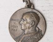 Large Vintage Religious Medal -- pope Paulus VI