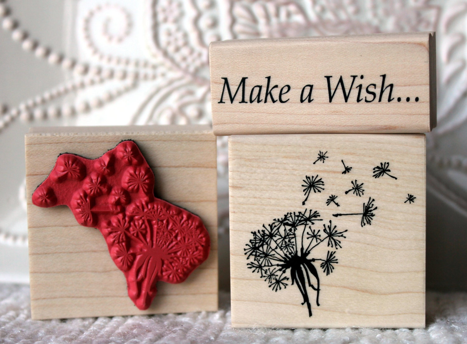 Dandelion Wish Flower Rubber Stamp From Oldislandstamps
