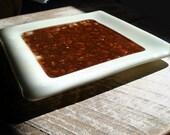 Fused Glass Desert Sand Decorative Plate
