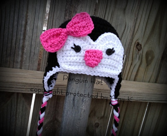 Girl Penguin Hats Crochet Hats Crochet Penguin Hats Toddler