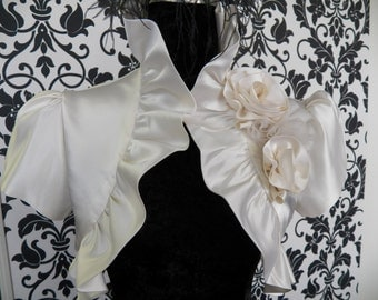 Silk Satin Wedding Bolero Jacket Bridesmaid Coverup