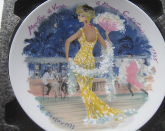 Vintage Plate Limoges Fashion France