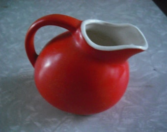 Vintage Pitcher  Ball Ceramic  Orange