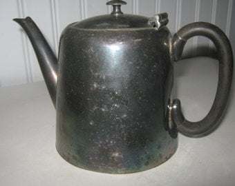 Vintage Teapot English Silver Plate Civic Sheffield