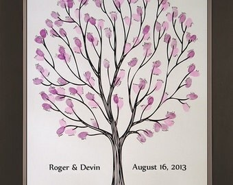 Tempo Wedding Thumbprint Tree for up to 300 Guests