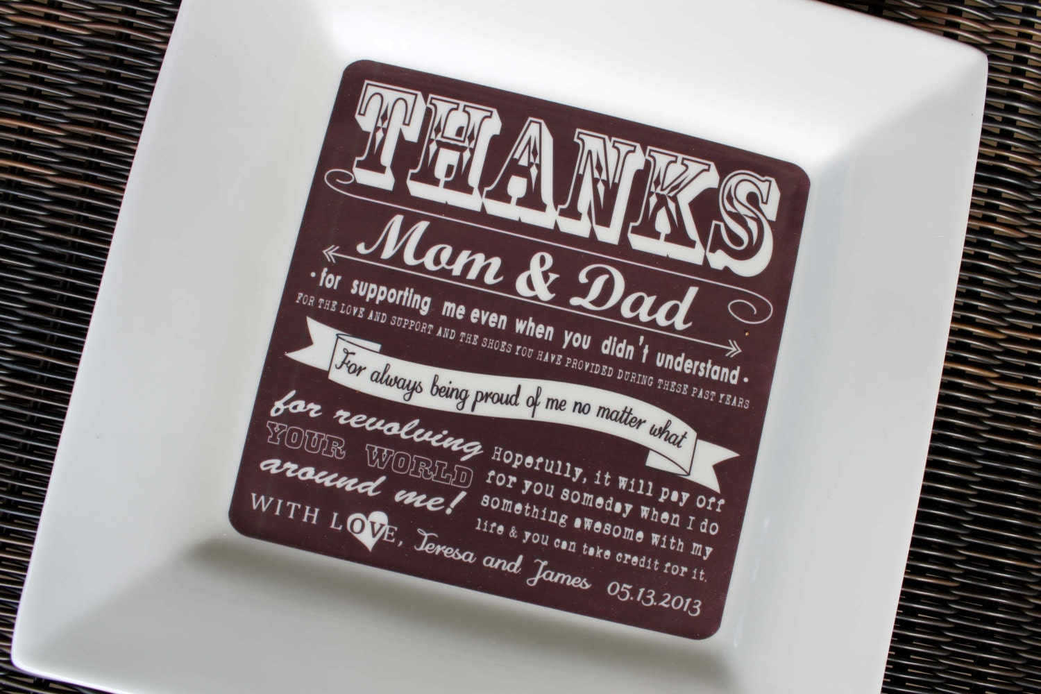 Wedding Gifts For Parents : Request a custom order and have something made just for you.