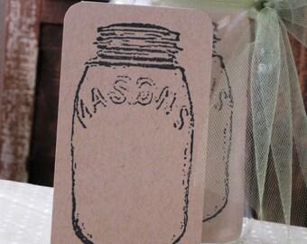 Stamped Mason Jar Note, Advice Cards