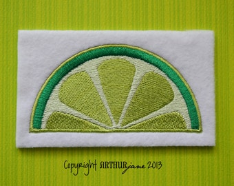 Lime, INSTANT DOWNLOAD, Embroidery Design for Machine Embroidery 4x4