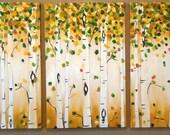 A New Season- Aspen Triptych Commission by Kristen Dougherty