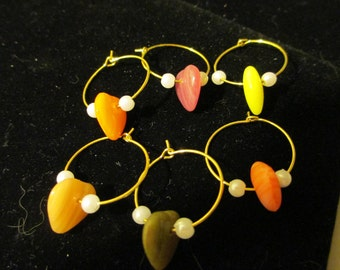 Wine Charms Gold 9